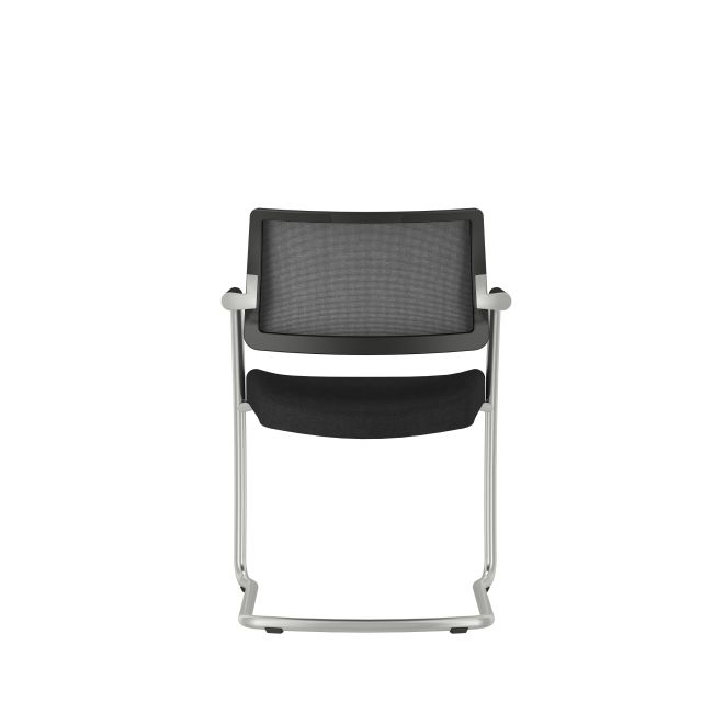 Devens Side Chair in Express Black, backview