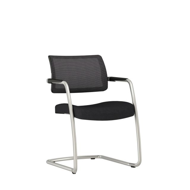Devens Side Chair in Express Black, 3/4 view