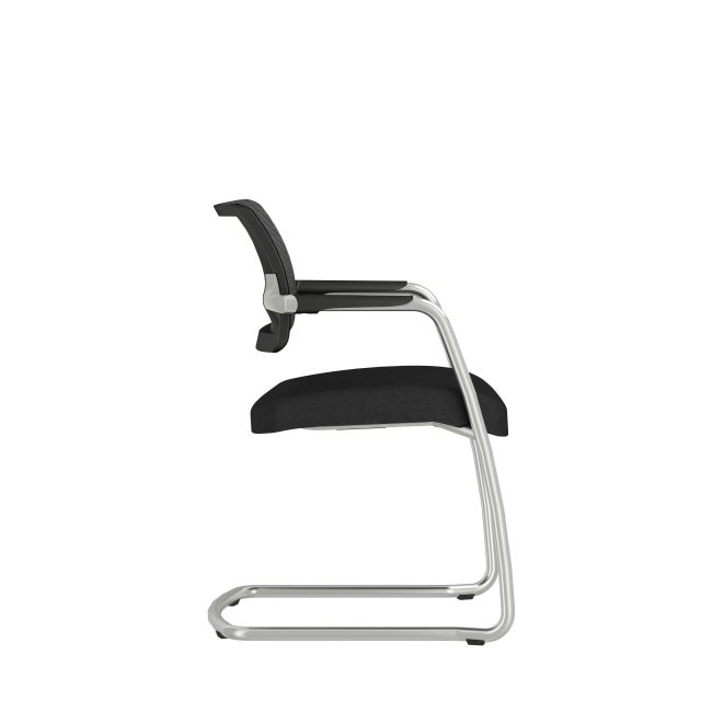 Devens Side Chair in Express Black, Side view