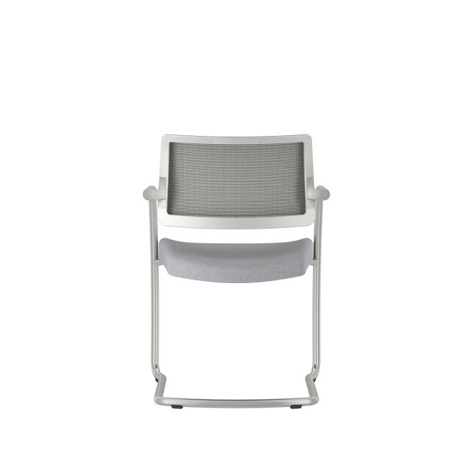 Devens Side Chair in Express Grey, Back View