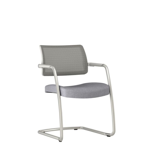 Devens Side Chair in Express Grey, 3/4 view