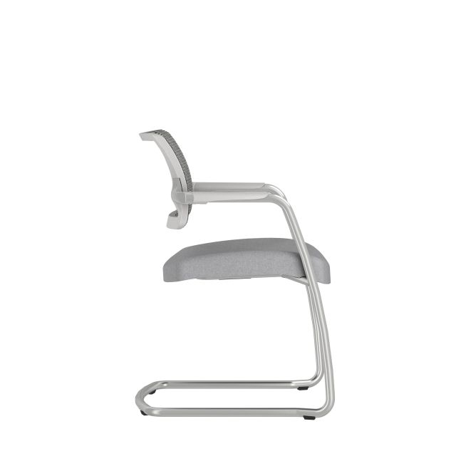 Devens Side Chair in Express Grey, Side View