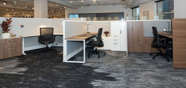 NeoCon 2021 Divi with Calibrate and L Series Storage. Shown with Revere Seating