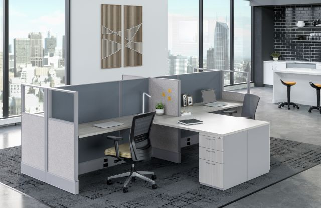 Divi with shared worksurface and Upton Seating