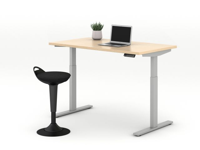 E Series Height Adjustable Table with Rutland Perch Seating