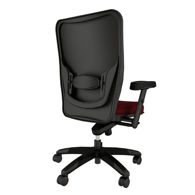 Element executive chair with Maharam Medium Port, back right view