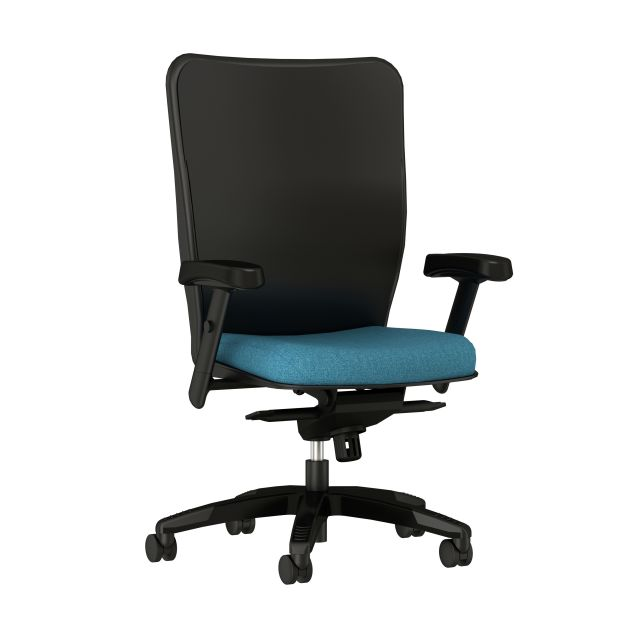 Element Executive Chair with alta Frock Manta Fabric, front left view