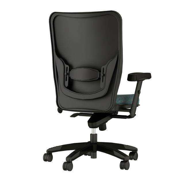 Element Executive Task with Black Trim and Guilford Aquaint Laguna, back view