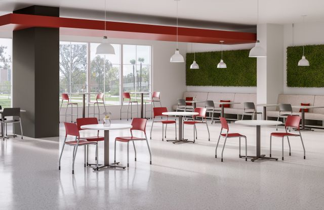 Day to Day Cafe with Round Tables and Pierce Side Seating
