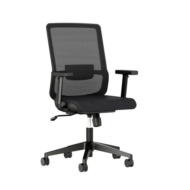 Essex Task Seating with Black Mesh and Seat, 3/4 View