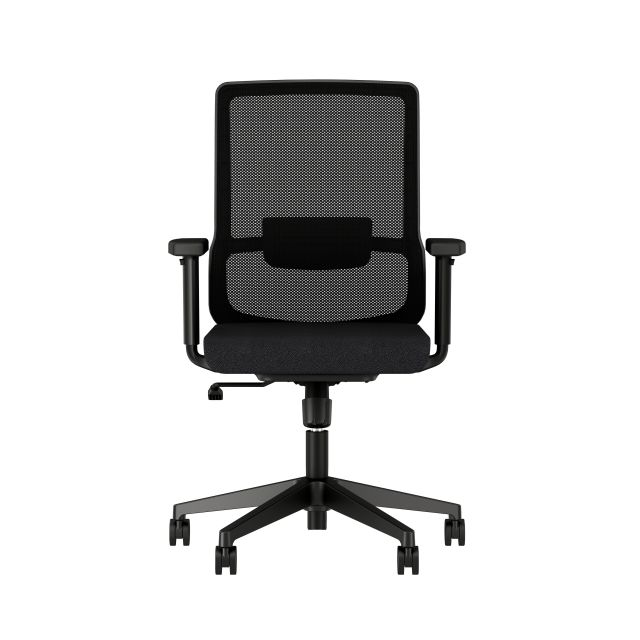 Essex Task Seating with Black Mesh and Seat, Front View