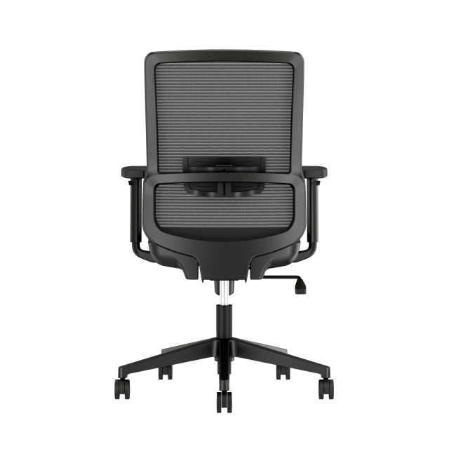 Essex Task Seating with Black Mesh and Seat, Back View