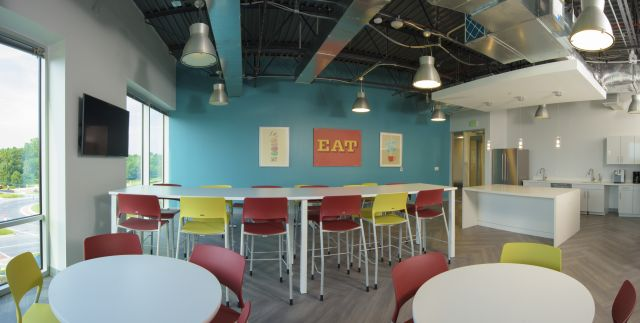 Client Cafe with Pierce Stools