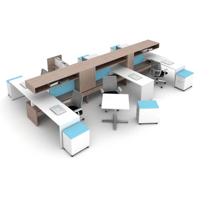 Calibrate Community Open Plan Workstations with High Bridge