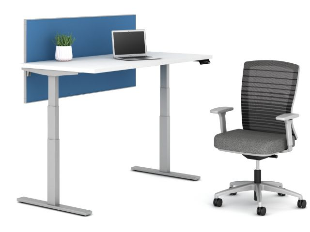 Day to Day Height Adjustable Table with Natick Seating