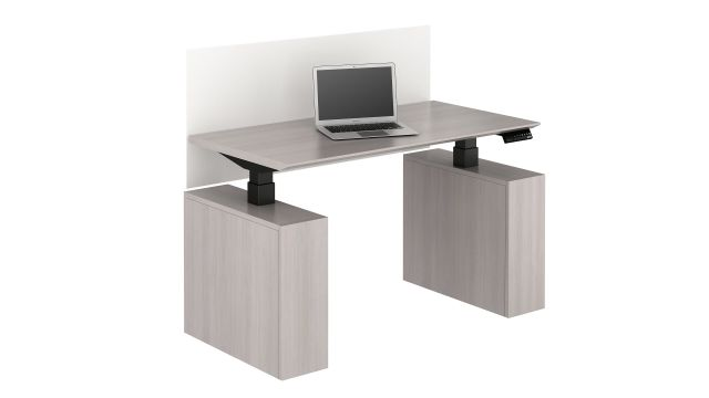 Calibrate Series Executive Height Adjustable Desk in Low Position