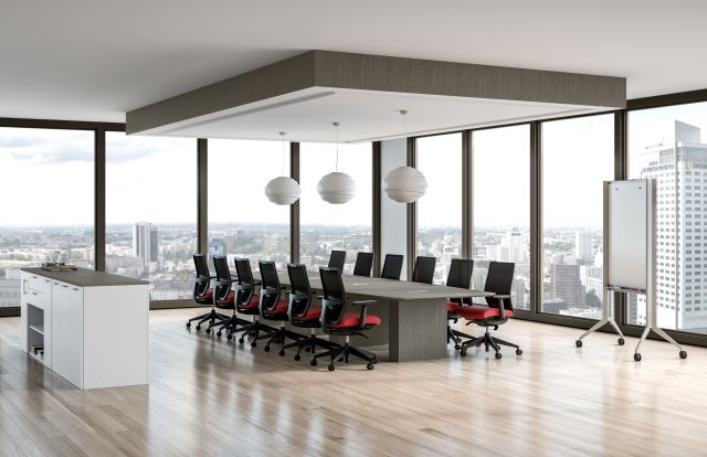 Calibrate Conference Table with Devens Seating