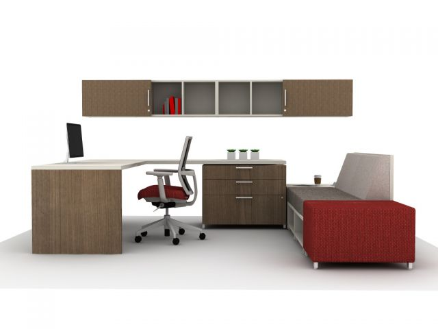 Calibrate Casegoods Private Office with LB Lounge Ideastarter 10