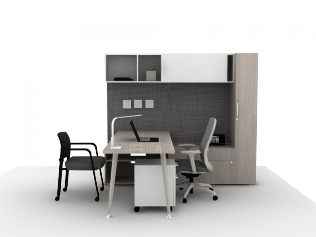 Calibrate Casegoods Small Private Office Idea Starter 9