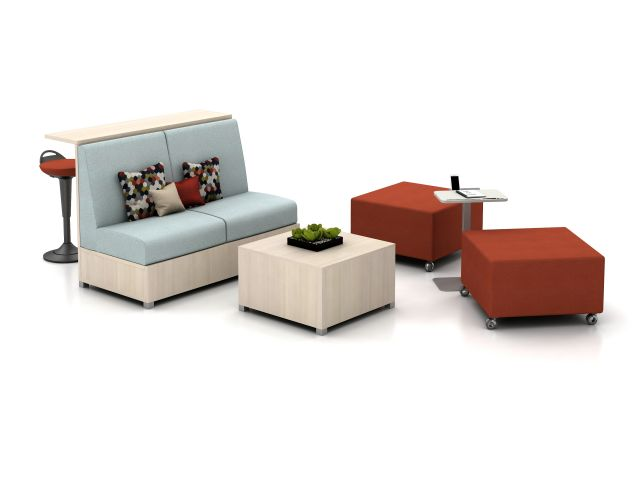 LB Ledge, Lounge, and Ottomans on casters