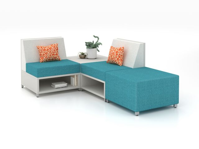 LB Single Seat Lounge, Table and Ottoman