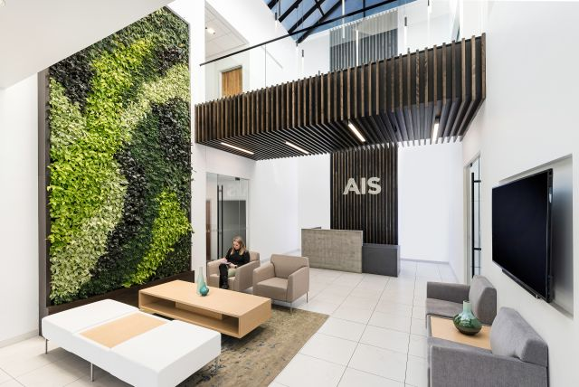 AIS Headquarters Lobby with 1 person