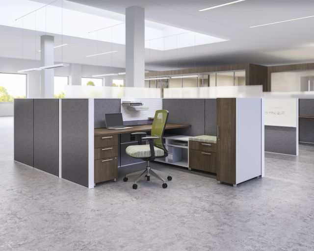 Matrix Panel System with Worktool Tile, Calibrate Storage and Natick Seating