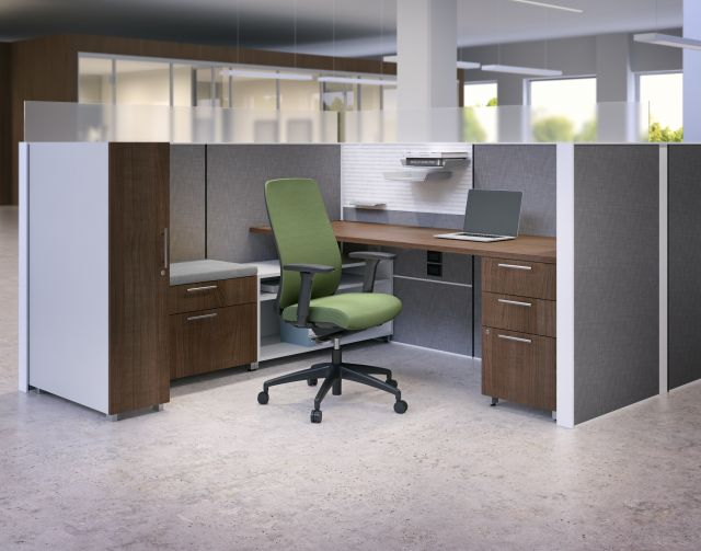 Bolton Seating with Matrix and Calibrate Series Storage