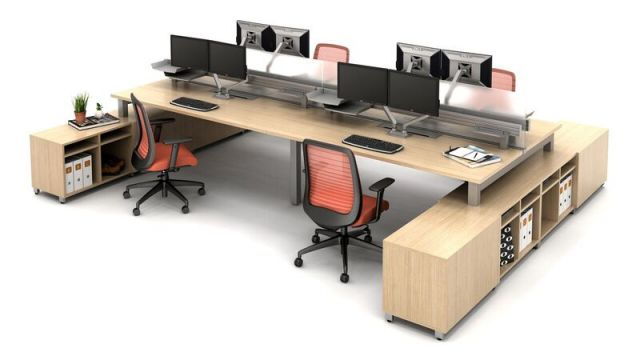 Oxygen Benching/Desking with Bolton Seating and Calibrate Storage