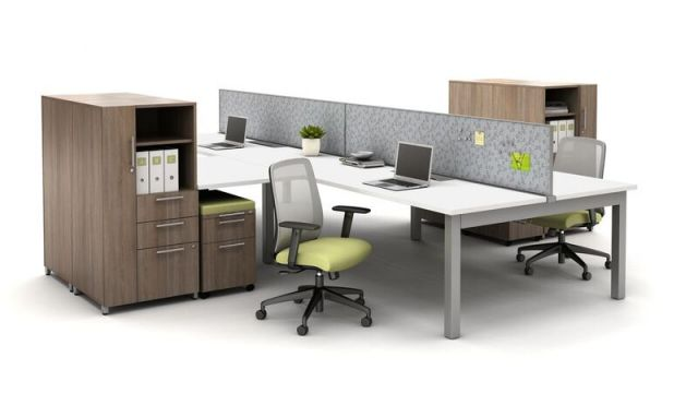 Oxygen Benching Open Plan with Screens and Calibrate Storage with Bolton Seating