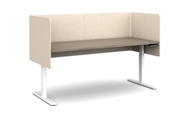 Day-to-Day Height Adjustable Table with Two L Wrap PET Screens