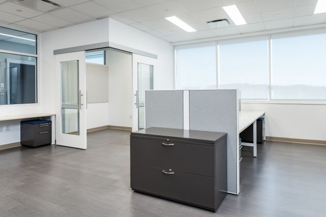 L Series Lateral File against Matrix Panel in Client Space