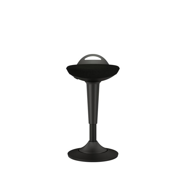 Rutland Perch Stool with Standard Black Seat Front View