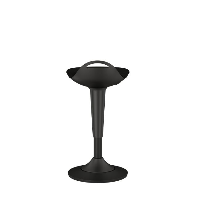 Rutland Perch Stool with Standard Black Seat Back View