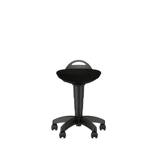 Rutland Pull-up Stool with Standard Black Seat Front View