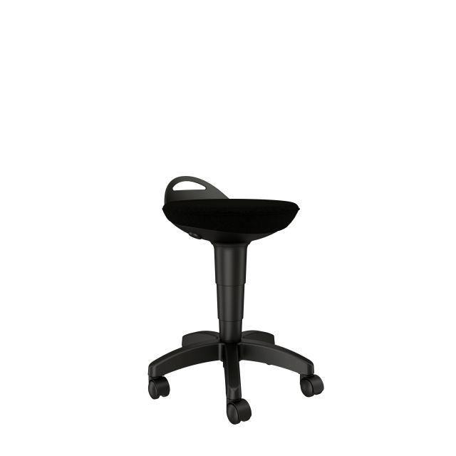 Rutland Pull-up Stool with Standard Black Seat Side View