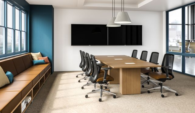 Informal Conference Room with Calibrate Conference Table, Bolton Seating and LB Lounge