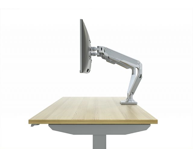 Side View of Dual Monitor Arm