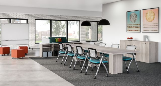Idea Space with Calibrate Conference Table and Stow Seating