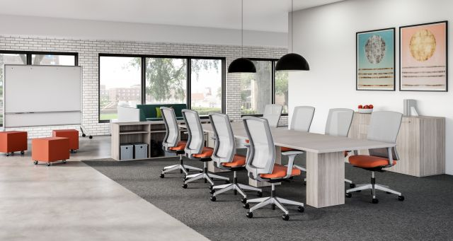Idea Space with Calibrate Conference Table and Natick Seating