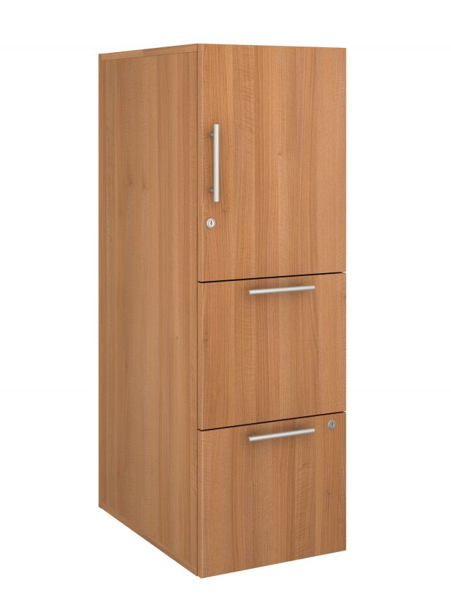 Calibrate Series Storage Tower in AIS Brazilwood Laminate with Bar Pull