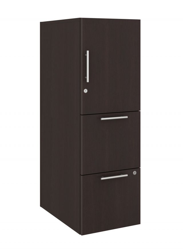 Calibrate Series Storage Tower in AIS Nightfall Laminate with Bar Pull