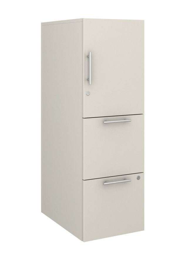 Calibrate Series Storage Tower in AIS Summer Drops Laminate with Bar Pull
