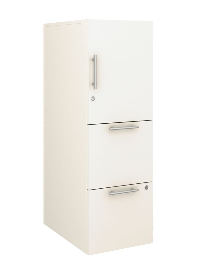Calibrate Series Storage Tower in AIS Chalk Laminate with Bar Pull