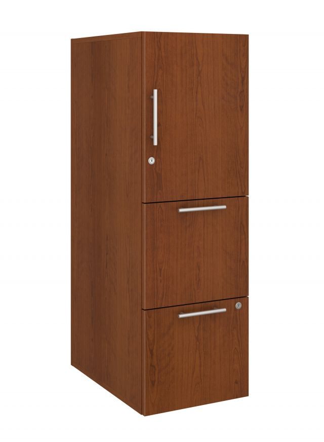 Calibrate Series Storage Tower in AIS Grand Cherry Laminate with Bar Pull