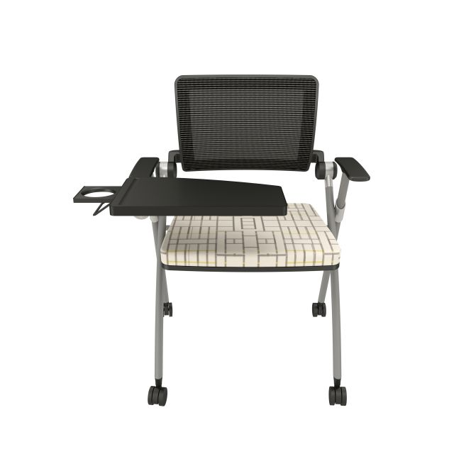 Stow with Grey Mesh, Silver Frame, Casters, Tablet, Luum Subdivide Bike Lane Seat Cushion
