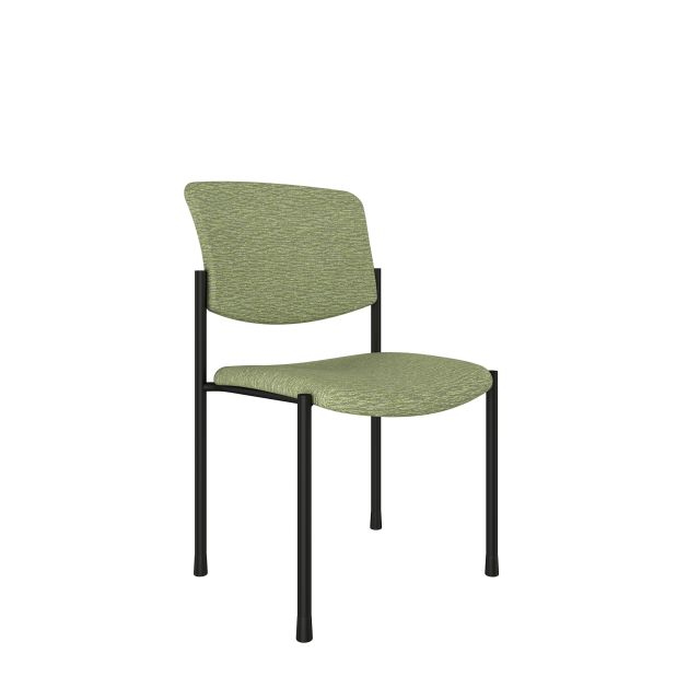 Trix Armless Chair with Momentum Fuse Cress Fabric