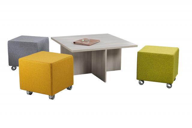 Volker Seating with Nesting Table
