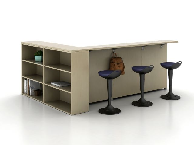 LB Ledge for LB Lounge with Calibrate Storage Bookcase