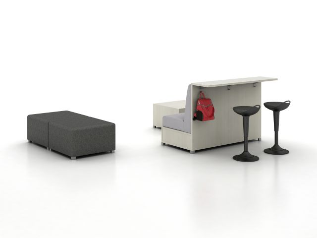 LB Ledge with LB Lounge and Ottoman
